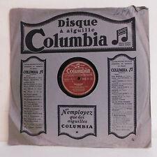 78T COMPAGNONS CHANSON Disque Phonographe LA MARIE -L'OURS Chant COLUMBIA BFX 21