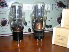 (2) NEW NOS NIB MATCHED PAIR TUBES Valves 2A3 RCA Tested POWER TRIODE Amplifier