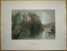 1842 Bartlett print LISMORE CASTLE, COUNTY WATERFORD, IRELAND (#120)