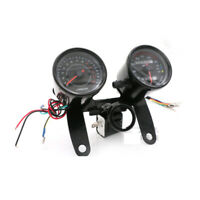 Motorrad LED Geschwindigkeitsmesser Tachometer Kilometerzähler Schwarz Schale