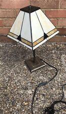 Lámpara de Mesa de estilo Tiffany Vidrio Manchado Lámparas Luz de Mesa de medio tono Artesanal
