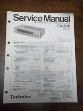 Technics Service Manual for the SA-210 Receiver~Repair~Original