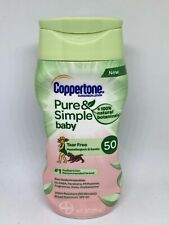 Coppertone Water Babies Pure & Simple Sunscreen Lotion SPF 50 - 6 oz EXP 01/2021