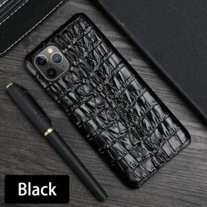 Luxury Real Crocodile Tail Texture Cover Leather Case For iPhone 13 12 ProMax 11
