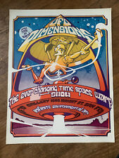 UFO Dimensions Poster Space Warp Show San Francisco Rare 1967 Psychedelic Haight