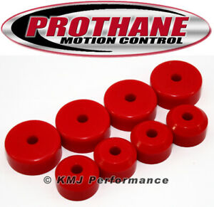 Prothane 7-503 1955-1957 Chevy Bel Air Motor Mount Kit V8 Engine Only Red