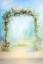Background 5x7ft Flower Door Studio  Props Photography  Vinyl Backdrops Wedding