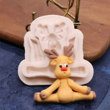 Christmas Deer Shape Cookies Cutter Fondant Cake Toppers Decor Sugar Mould Mold