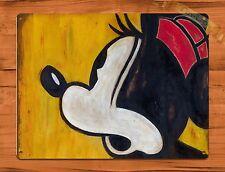 "Tin Sign ""Minnie Mouse"" Disney Art Painting Ride Movie Poster Cartoon Mickey"