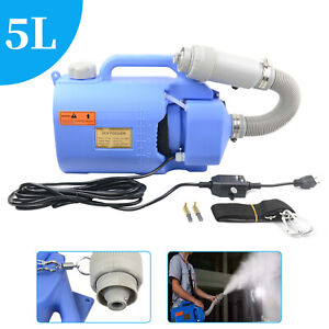 Portable ULV 5L Electric Sanitizer Sprayer Disinfectant Cold Fogger Machine New
