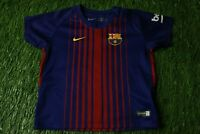 BARCELONA BARCA SPAIN 2017/2018 FOOTBALL SHIRT JERSEY HOME NIKE ORIGINAL KIDS