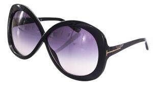 Tom Ford Margot Sunglasses Black Frame Gradient Lens FT226 01B 63-5 130