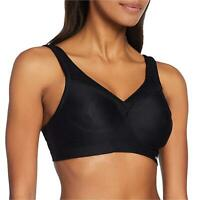 Glamorise Women's Full-Figure Sports Bra, Black, 34G, Black, Size 34G 7aLx