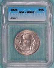 1936 MS-67 Albany New York Charter Classic Commemorative Half 17,671 Minted