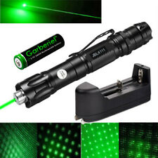 Tactical 900Miles Green Laser Pointer Pen 532nm Beam Light+Cap+18650+Charger Usa