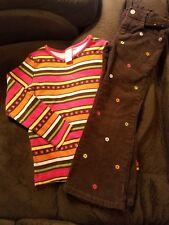 """Gymboree """"Fall for Autumn"""" 2-piece outfit, corduroy pants/Ls shirt, Euc, sz 5"""