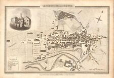 1824 ANTIQUE MAP-TOWN PLAN - ASHTON UNDER LINE, LANCASHIRE, J ATKINSON