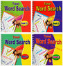 Spiral Bound Word Search Travel Books 4 DESIGNS 160 PUZZLES BOOK