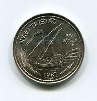 Portugal 100 Escudos Coin Nuno Tristao 1987 Discoveries KM 640
