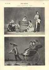1894 Gentle giapponese mattino Vasca da Bagno BREVI Sketch diverse scanalature