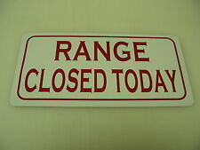 RANGE CLOSED TODAY Metal Tin Sign for DRIVING or GUN Range Balls for Golf Club