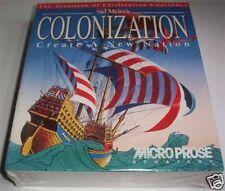 PC DOS: Sid Meier 's colonization - * NUOVO * SCATOLA ORIGINALE