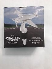 New listing The Aviators Tavern Wine Bottle Stopper Nickel Plated Tarnish Resistant Airplane