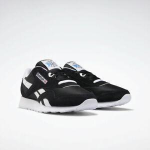 Reebok Classic Nylon FV1592 Black White Mens Shoes Sneakers Size 7.5-13