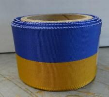 "12 "" LENGTH OF RIBBON - GOLD AND BLUE - #RB165"