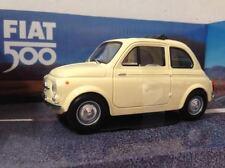 Fiat 500 classica Mondo Motors scala 1:24 bianco panna nuova modellino