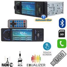 AUTORADIO CON DISPLAY MP3 MP4 FM AUX USB SD VIVAVOCE BLUETOOTH 50Wx4 SMARTPHONE