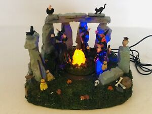 Retired 2007 Lemax Spooky Town Animated Halloween Witches Coven 74596 (READ)