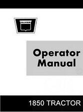 Oliver 1850 Gas Diesel Tractor Operators Manual OL