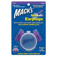 Mack's Aquablock Ear Plugs, 1 Pair, Purple