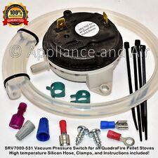 Quadrafire Vacuum Switch SRV7000-531, SRV7000-447, 812-1990 -3430 -1802 + Instr.
