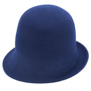 Womens Vintage Style Short Brim Blocked Untrimmed Cloche Wool Felt Hat Base T413