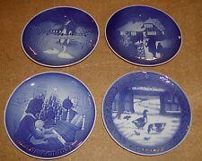 4 Royal Copenhagen Denmark Christmas Plates 1969,1971,1973 &  1974 MINT