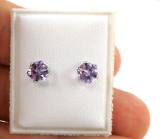 VIVID PURPLE CUBE EARRINGS FOR LITTLE GIRLS AND TODDLERS - 4MM SCREWBACK