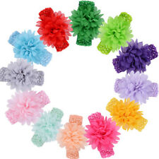 10 Colors/set Baby Girls Headband Flowers Elastic Wrap Soft Kids Hairband Photo