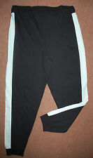 NEW Sz 16-20 Black with White Side Strip Jogging Yoga Trousers Sweatpants