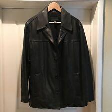 JCrew Black Leather Car Coat