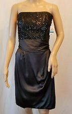 MARIA BIANCA NERO Strapless Sequined Dress 100% Silk Size L New with Defect  L36