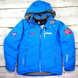 Spyder Down Jacket Norway Olympic Bobsled Team Oslo Lillehammer NABSF Sz. Large