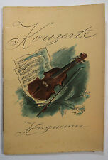 Vintage Orchestra Concert Program Zurich Switzerland 1937 Great Advertisements