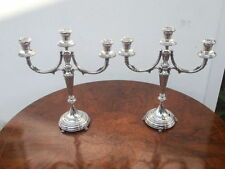 Candelabri Argento 800 silver candelabras candlestick Firenze 1950 - 1110 gr