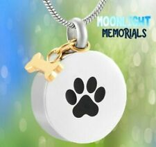New Paw Dog Bone Charm Urn Cremation Pendant Ashes Holder Memorial Necklace