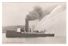 Postcard WA Seattle New Fire Boat Duwamish RPPC c1907 Reid