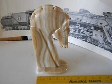 Marble horse bust approx 10 inches tall with mane, Bookend?