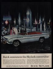1962 BUICK SKYLARK Convertible Car - Boat Dock - VINTAGE AD