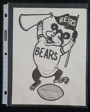 "VINTAGE FOOTBALL NFL Cartoon Team Print CHICAGO BEARS (8"" X 10"") Original Print"